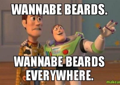 Wannabe Beards are everywhere.