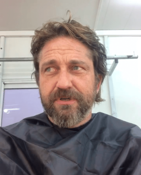 WATCH: Gerard Butler Posts Video Shaving His Beard Off, Freaks Out