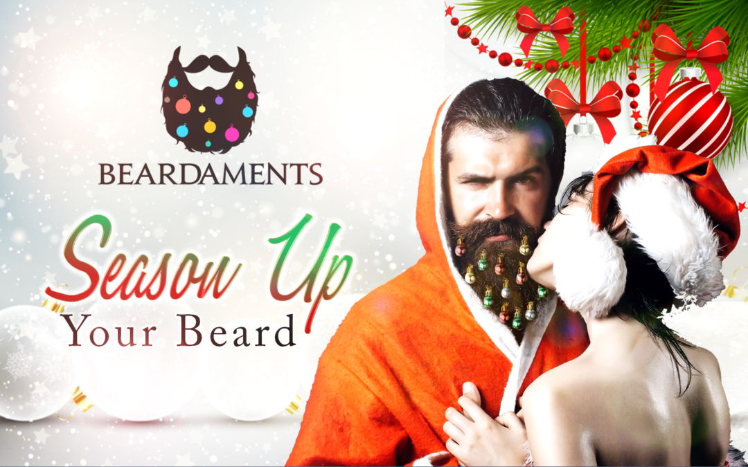 New Christmas Trend: Glitter Beard and Beard Ornaments?!