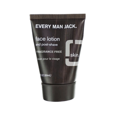 Every Man Jack fragrance free travel size face lotion
