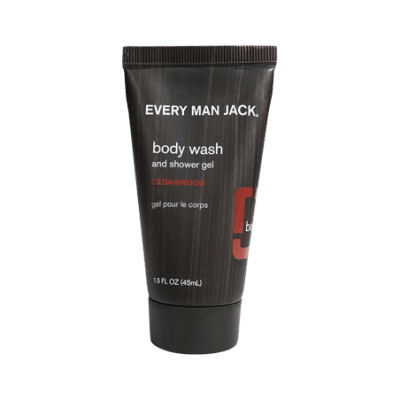 Every Man Jack travel size body wash cedarwood front